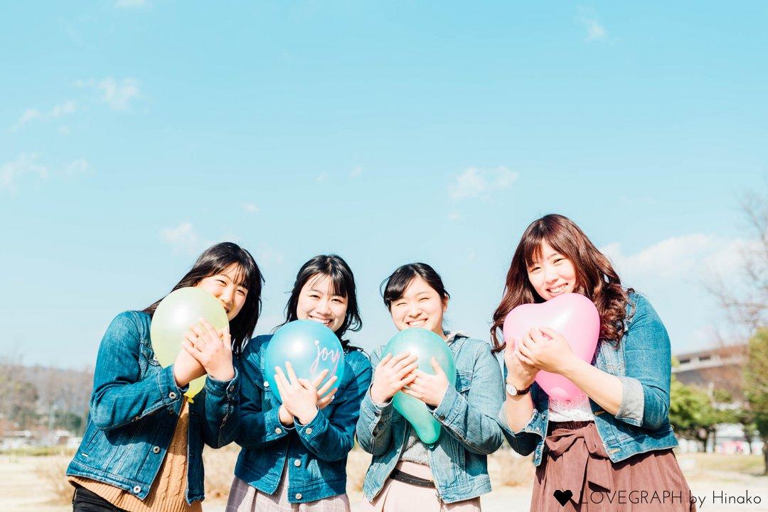 Tomomi × Nana×Shiori×Kana | フレンドフォト(友達)