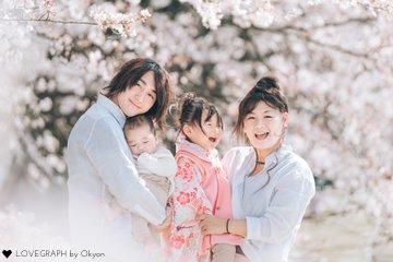 桜×T family | 家族写真(ファミリーフォト)
