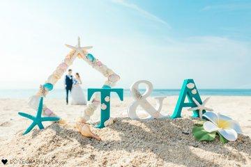 Takuya×Akari ウェディングフォト in 水晶浜 | カップルフォト