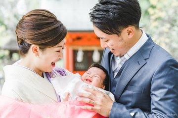 Honoka お宮参り   家族写真(ファミリーフォト)