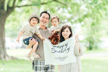 Mayu 1st birthday ♡ | 家族写真(ファミリーフォト)