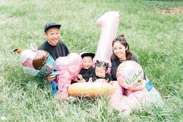 ちあん1歳バースデー | 家族写真(ファミリーフォト)