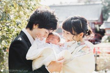 おうくん お宮参り | 家族写真(ファミリーフォト)