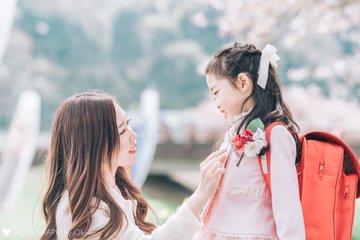 aria × mama × 桜 | 家族写真(ファミリーフォト)