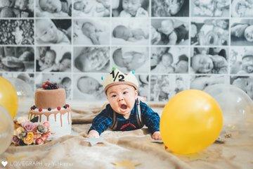Sora half birthday | 家族写真(ファミリーフォト)