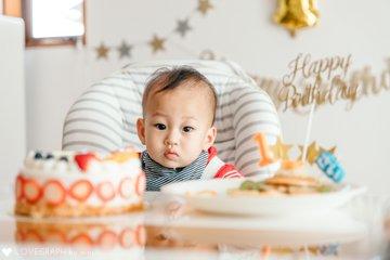 かいせい1歳誕生日 | 家族写真(ファミリーフォト)