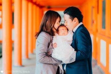 H's omiyamairi | 家族写真(ファミリーフォト)
