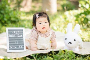 Momoka Half birthday | 家族写真(ファミリーフォト)