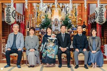 祝100日&お宮参り | 家族写真(ファミリーフォト)