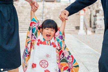 あかり3歳七五三 | 家族写真(ファミリーフォト)