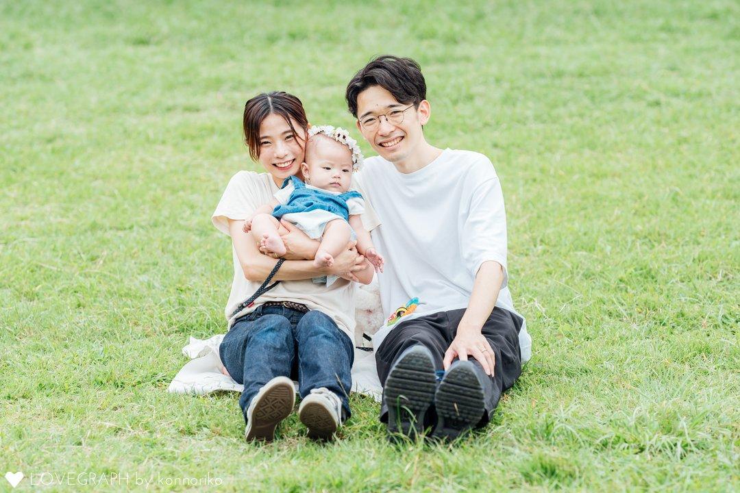 ゆづきハーフバースデー | 家族写真(ファミリーフォト)