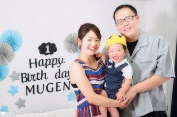 むーちゃん1歳BD | 家族写真(ファミリーフォト)