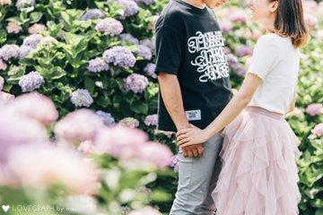ひいおばあちゃんと紫陽花畑 | 家族写真(ファミリーフォト)