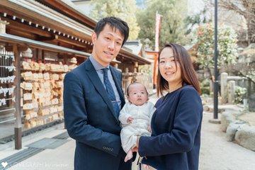 お宮参りin櫛田神社 | 家族写真(ファミリーフォト)