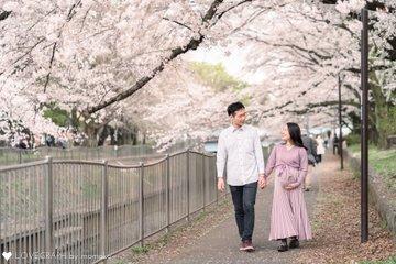 桜マタニティフォト | 家族写真(ファミリーフォト)