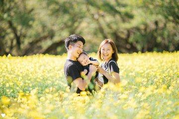 るい1歳お誕生日 | 家族写真(ファミリーフォト)