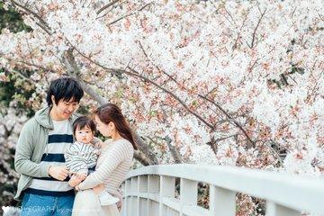 とあ1歳*桜フォト | 家族写真(ファミリーフォト)