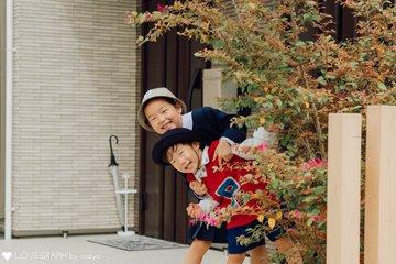MAYU×YUTO 入学・入園式 | 家族写真(ファミリーフォト)