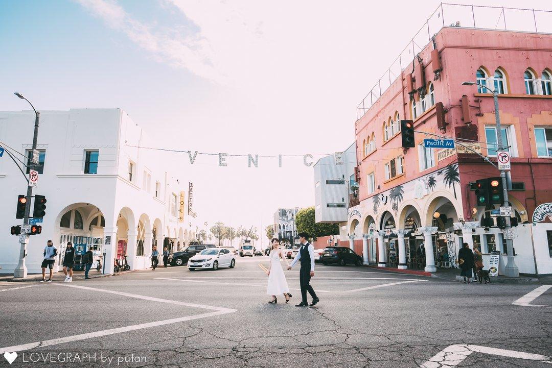 Commemorative photo in Los Angeles | 夫婦フォト