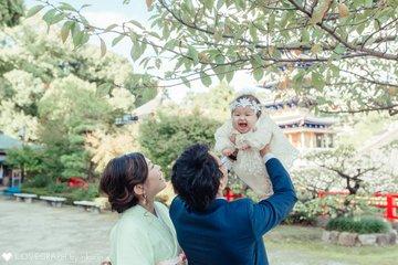 月稀乃お宮参り&100days | 家族写真(ファミリーフォト)
