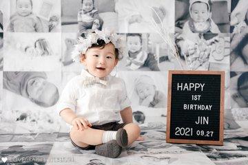 JIN first birthday | 家族写真(ファミリーフォト)