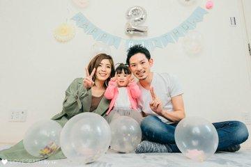 Rin 2year birthday | 家族写真(ファミリーフォト)