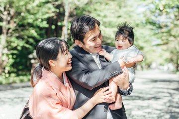 梅ちゃんのお宮参り | 家族写真(ファミリーフォト)
