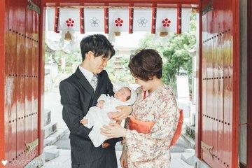 結音 × お宮参り | 家族写真(ファミリーフォト)