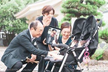 結's お宮参り with リモートパパ