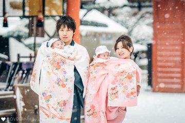 IORI♡IONAお宮参り♡お食い初め | 家族写真(ファミリーフォト)