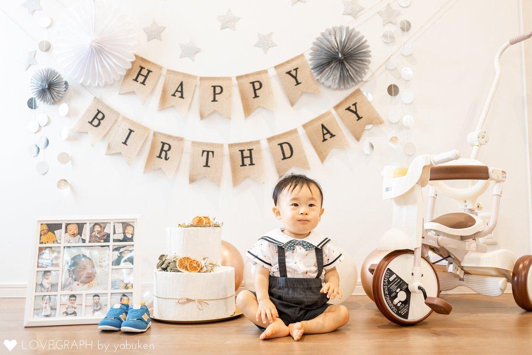 みつき1歳の誕生日   家族写真(ファミリーフォト)