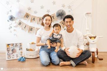 みつき1歳の誕生日 | 家族写真(ファミリーフォト)