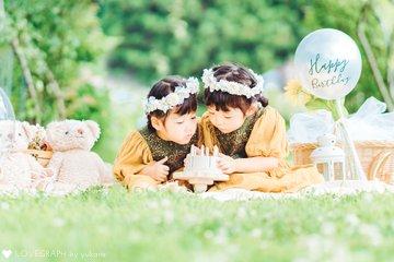 Mona♡Runa 4th birthday | 家族写真(ファミリーフォト)