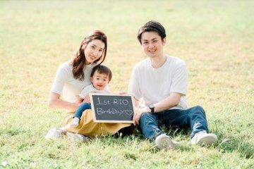 りお1歳バースデー   家族写真(ファミリーフォト)